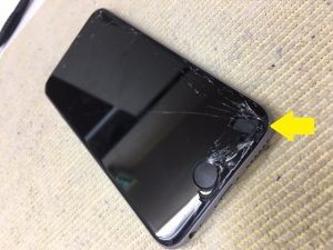 iPhone6Sガラス割れ修理